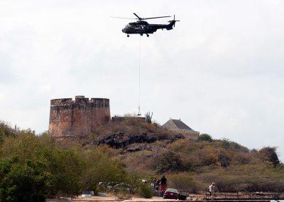 De helicopter en zijn vracht