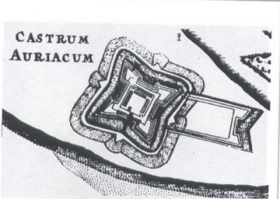 Ontwerp Fort Oranje (1631) in- Barlaeus 1647