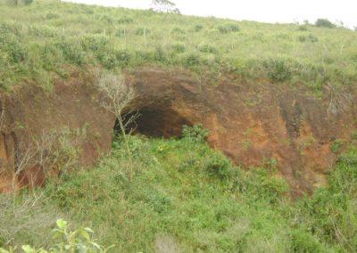 Parte externa do buraco
