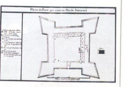 Plattegrond Fort Oranje. Uit Barlaeus 1647