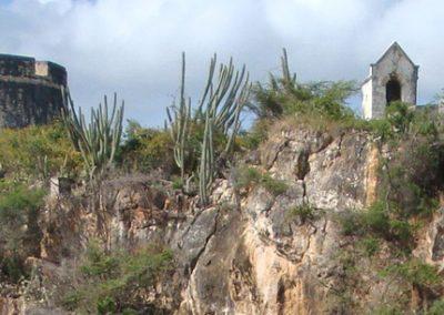 Fort Beekenburg vanaf het strand