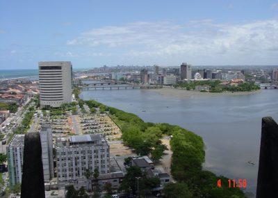 Vanaf 15e verdieping Prefeitura richting Bestuurscentrum