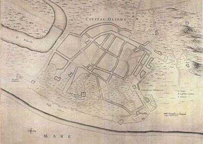 cart. 25. civitas olinda marcgraf 1637-1643 vgl barlaeus 42
