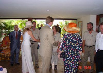 H. M. Koningin Beatrix bezoekt in 2003 Project Fort Oranje