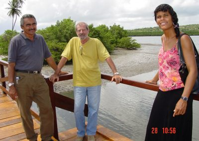Nova Ponte Daví, Odilon de Albuquerque Mello e jornalista Renata