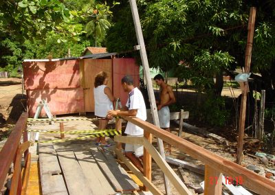 Nova Ponte Elódia Negromonte vista a construção